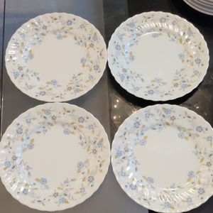 Set of 4 Leonia Sonnet Fine China Salad Plates